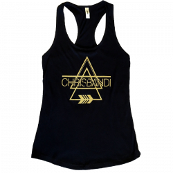 Chris Bandi Ladies Black Racerback Tank