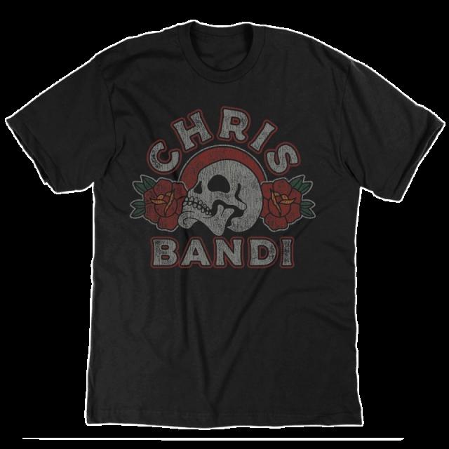 Chris Bandi Black Skull Tee